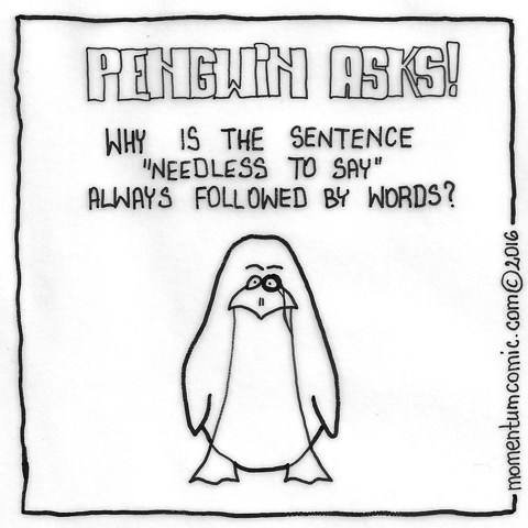 penguin asks
